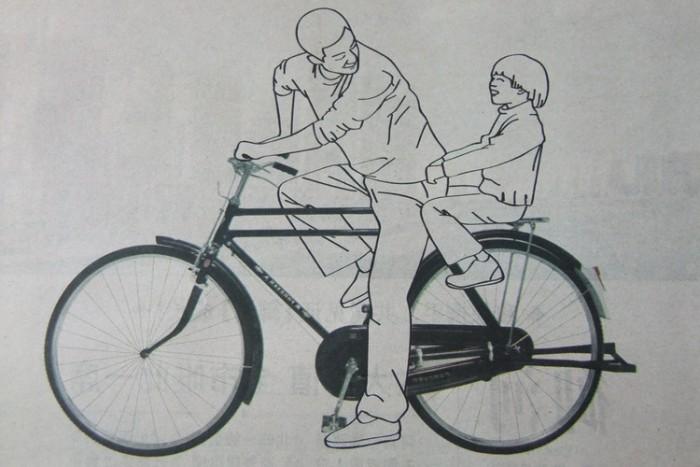 接简笔画单车