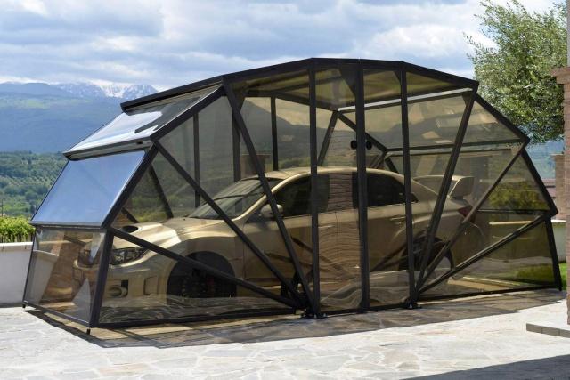 求雨仪式到此结束——GazeBox透明折叠式车库