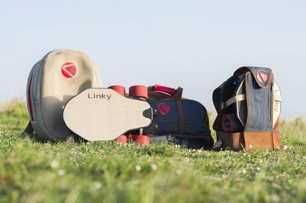 为了设计包包,他们连滑板都不放过——Linky可折叠电动滑板