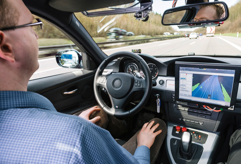Bosch-autonomous-car-demonstrator-interior