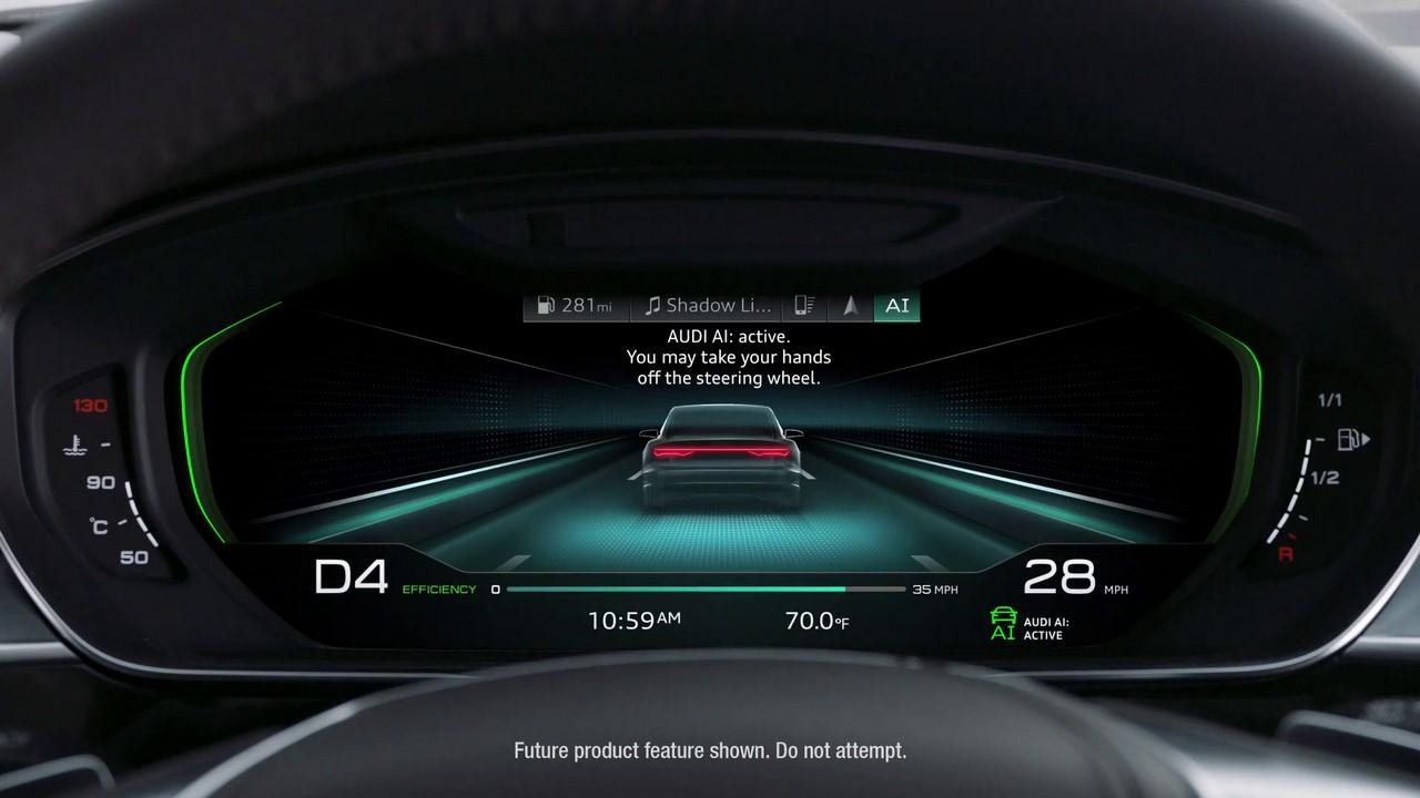 2018-Audi-A8-instrument-cluster-Audi-AI-autonomous-drive-mode