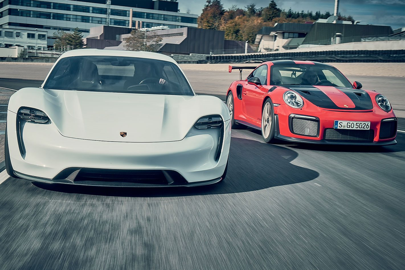 2018-Porsche-911-GT2-RS-vs-Porsche-Mission-E-Concept-comparison-drive