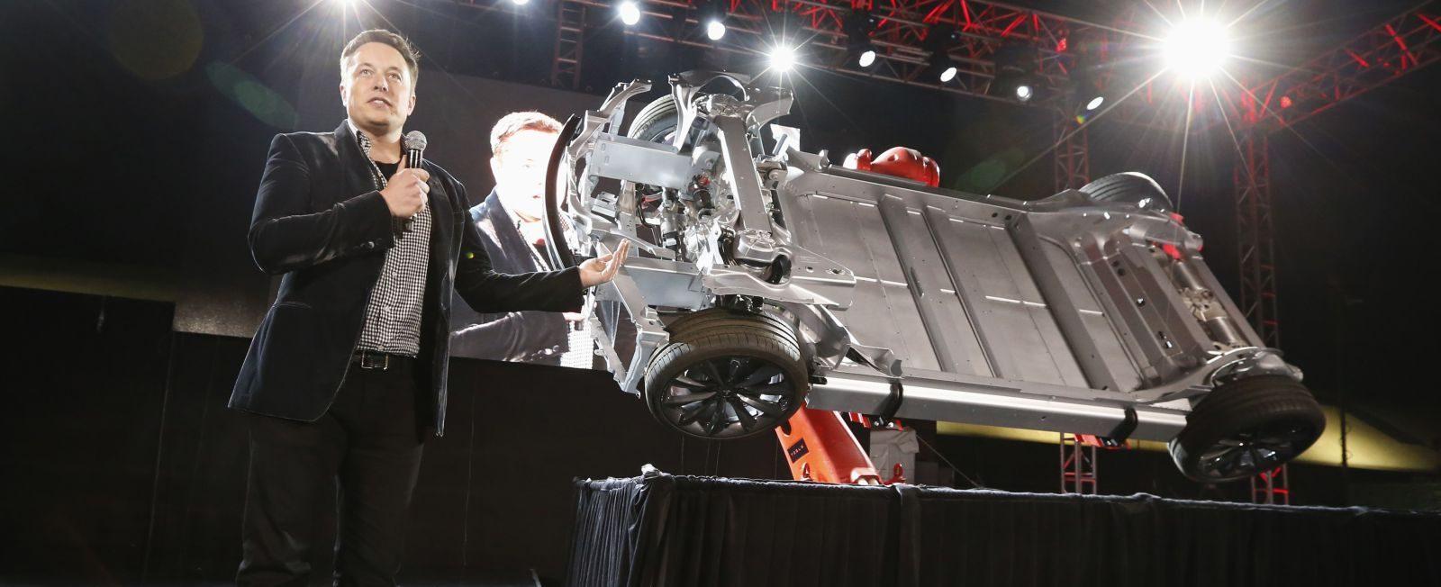 特斯拉Model S的电池底盘