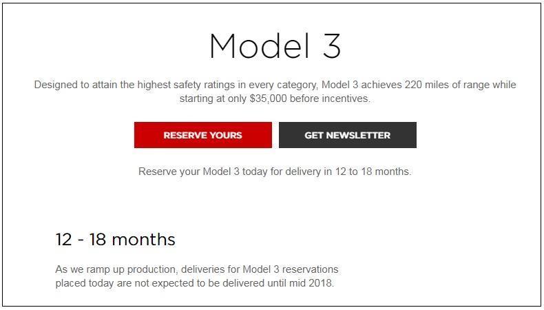 Model 3交付
