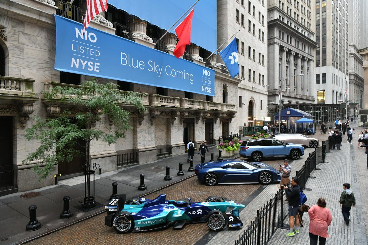 Nio-cars-at-NYSE-IPO