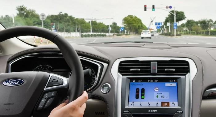 福特汽车首次在中国开放道路进行C-V2X测试