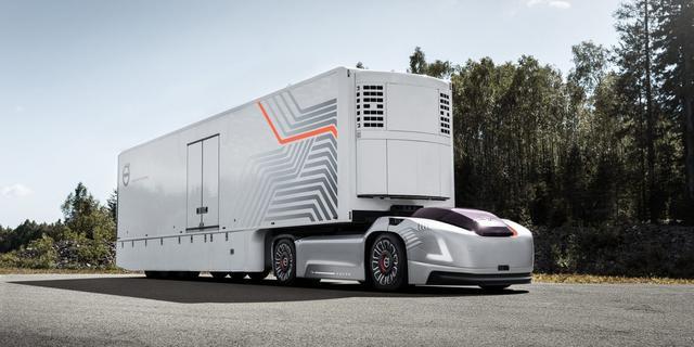 可以实现无人驾驶的沃尔沃电动卡车Vera,了解一下?