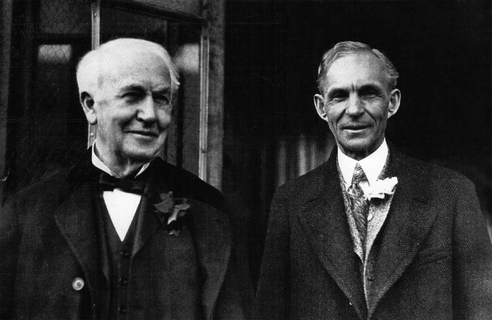 Henry Ford's history of working with Thomas Edison dates back to the late 1800s, when Ford worked for the Edison Illuminating Company in Detroit. In 1892, Edison co-founded General Electric. In 1896, Ford attended a lecture given by Edison, which inspired him to discuss his ideas with the renowned scientist, thus beginning a strong friendship that endured for the rest of their lives.