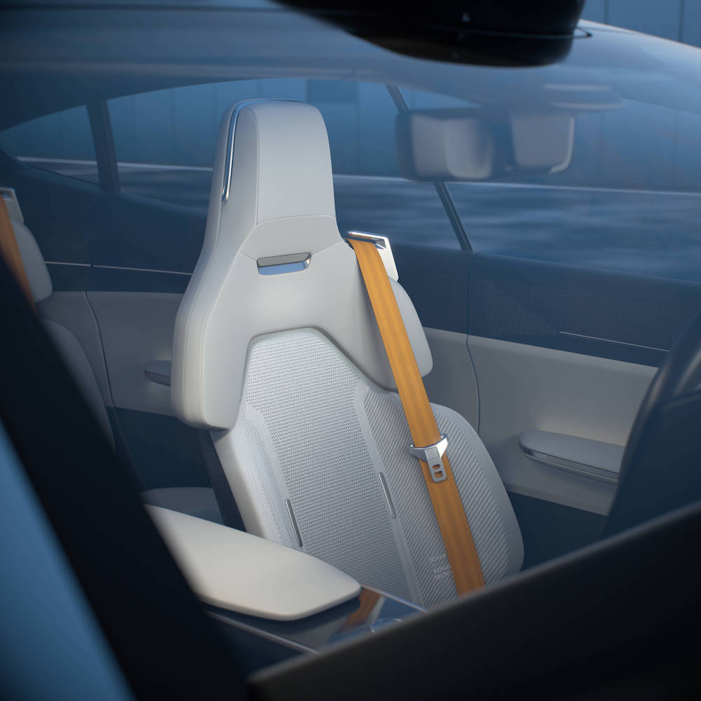 极星首创的3D飞线汽车座椅