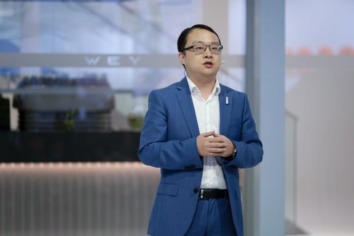 图2 魏牌欧盟品牌副总裁强孙兵 讲话